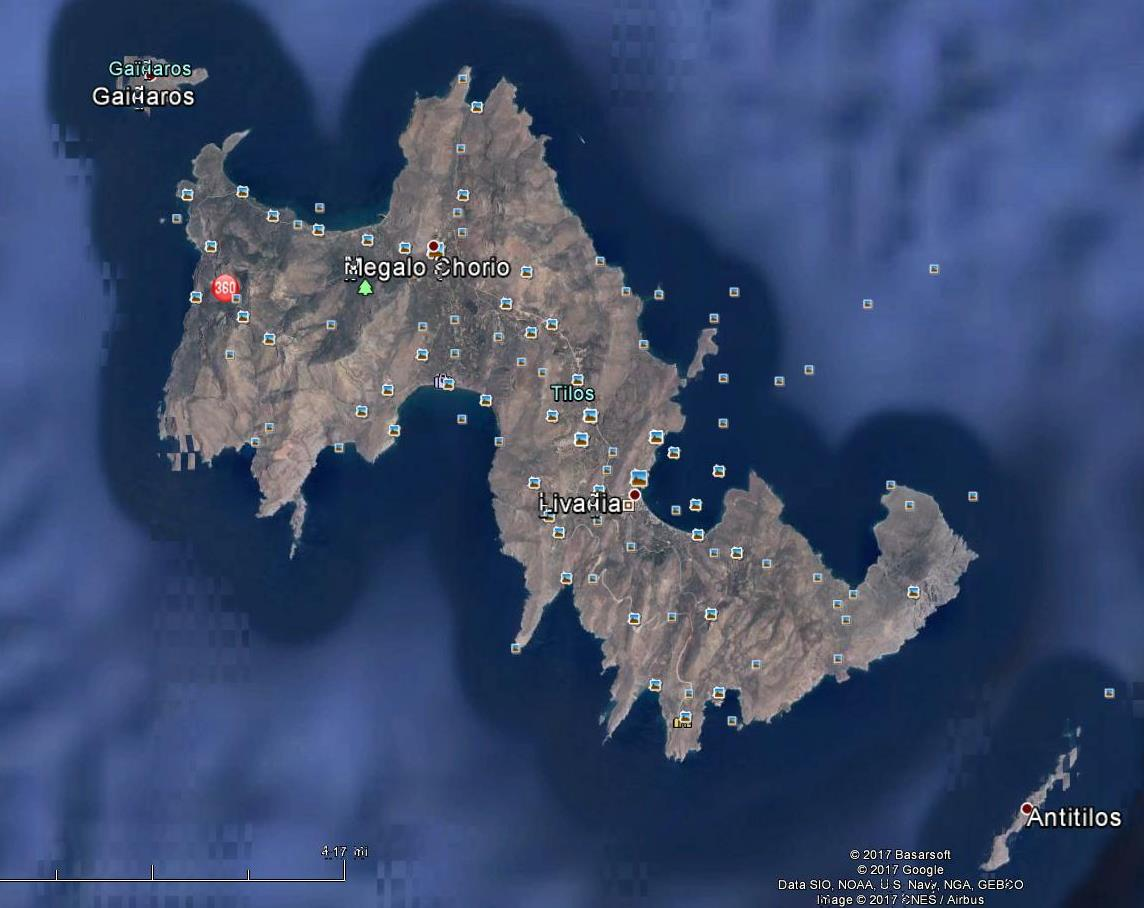 Tilos by GOOGLE EARTH